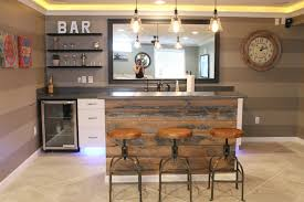 Barnwood Bar old barn wood used to finish the front of our basement bar home 6917 by xevi.us