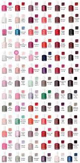 Essie Gel Colors Chart Essie Color Chart Yes Essie Colors Nails Essie Nail Polish