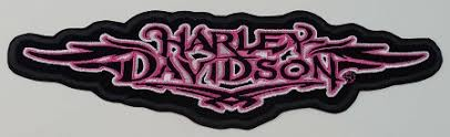 harley davidson pink tribal emblem patch hd133