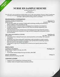 Examples Of Registered Nurse Resumes