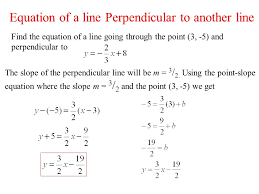 find the equation of a line going through the point 3 5