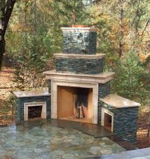 image of stacked stone fireplace ideas