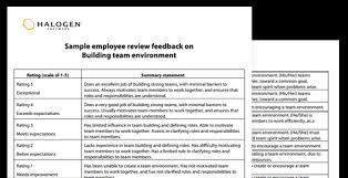 Sample Employee Performance Evaluation Comments - April.onthemarch.co
