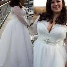 Wedding Dress Plus Size Chart Details About Elegant Long Sleeve Plus Size Wedding Dresses White Ivory Lace Boho Bridal Gowns