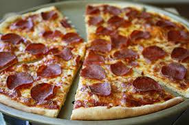 perfect pepperoni pizza slice. Beautiful Slice Thin Crust Pepperoni PIzza On Perfect Pizza Slice T