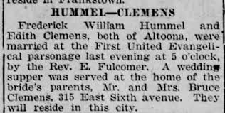 Edith Clemens Wedding Announcement - Newspapers.com