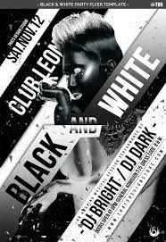 Black And White Flyer Template Black And White Party Flyer Template By Lou24 GraphicRiver 2