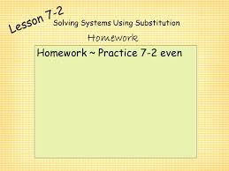 11 solving systems using substitution