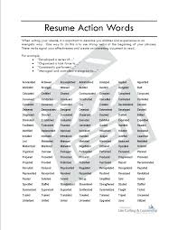 Action Verb For Resume Power Verbs List Action Verbs For Resume