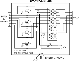 bt cat6 p1 hp injector kit 48vdc 48 w power supply bt diagram