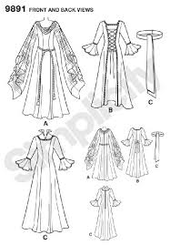 Medieval Dress Patterns Simple Amazon Simplicity Sewing Pattern 448 Misses Costumes HH 44848