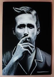 saatchi art artist slavik vatsyk painting portrait ryan gosling art