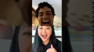 Lana gained a huge following when she played the role of lara jean in the film to all the boys i've loved before. Noah Centineo And Lana Condor Hang Out On Instagram Live Youtube