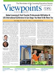 LES Viewpoints March 2018 Edition by Licensing Executives Society (U.S.A.  and Canada), Inc. - issuu