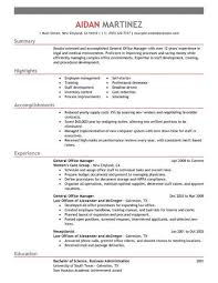 Resume Highlights New Best Administrative General Manager Resume Example LiveCareer