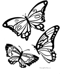 Brown and black butterfly flying above beautiful flowers. Butterfly Coloring Pages Sheets And Pictures