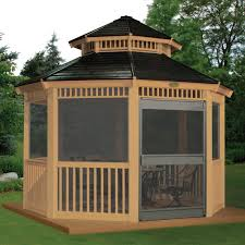fetching screened gazebo kits furniture astounding gazebos for garden sullivanbandbs com rectangle plans to apply home decor