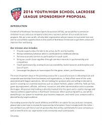 Example Of A Sponsorship Proposal Magnificent Sponsorship Proposal Template Sponsor Example Optional Sports League