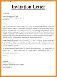 Event Invitation Letter Sample New Email Template Free Business