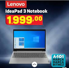 A101'de 1999 TL'ye satılan Lenovo 3 İdeapad notbook nasıl, alınır mı?  Lenovo 3 İdeapad notbook özellikleri