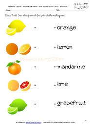Worksheet 79 - Matching citrus fruits names worksheet