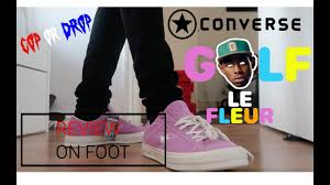 converse tyler the creator. converse x tyler the creator golf le fleur sneaker review / on foot cop or drop converse tyler the creator g