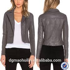 women coat autumn winter jacket grey leather jacket fashion design girls and wqbutve