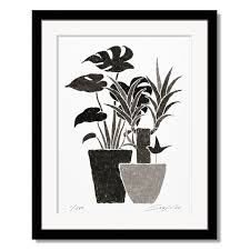 prints paintings of color living and s to please foliage motif soujirou art made in japan framed painting leaf pattern art panel black monochrome