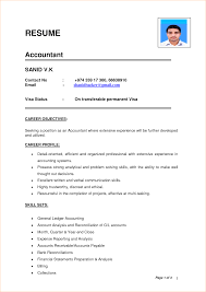 Accountant Resume Word Format Resume For Study