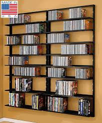 dvd cd storage rack wall mounted unit retro style shelving cd for in cd wall shelf renovation