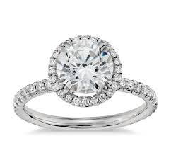 blue nile studio heiress halo diamond engagement ring in platinum