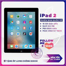 Shop bán Máy tính bảng Apple IPAD 2 -16GB bản WIFI hoặc 3G/Wifi - CPU APPLE  A5 1G/Hz Ram 512MB TẶNG CỦ VÀ CÁP SẠC MR CAU
