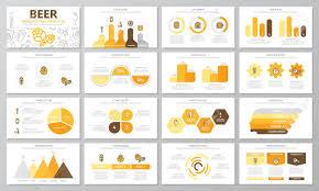 Set Of Beer And Bar Pub Elements For Multipurpose Presentation