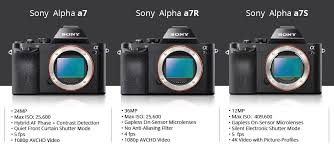 Sony Alpha Comparison Chart The Sony A7 Series Which Model Suits You Best B H Explora