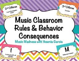 classroom rules template music class rules behavior consequences editable templates tpt