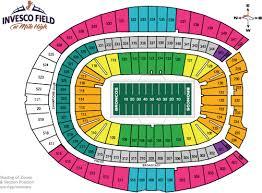 Denver Broncos Tickets Seating Chart Denver Broncos Tickets Bramptontickets Com