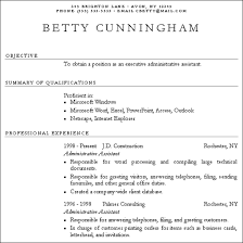 sample plain text resumes