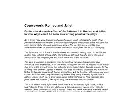 explore the dramatic effect of act scene in romeo and juliet  document image preview