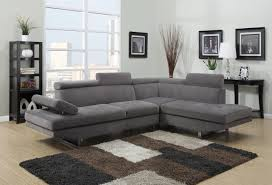 modern grey sectional sofas. Wonderful Sofas Olivia Collection Modern Grey Microfiber Sectional Sofa 84995 Image 1 Throughout Sofas I
