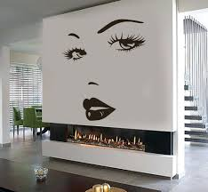 white chandelier wall decal eyes wall sticker vinyl decal beauty salon woman face lips girl eyes