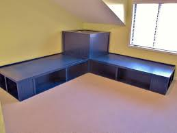 corner platform bed this would be perfect for my boys room