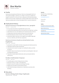 What To Write In Profile On Resume Veterinarian Resume Templates 2019 Free Download Resume Io