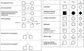 Genealogy Symbols Charts Embedded Genealogy Forms Family Tree Chart Family Genealogy