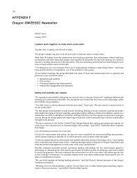 Odot Traffic Control Plans Design Manual Appendix F Oregon Owzessc Newsletter Highway Worker