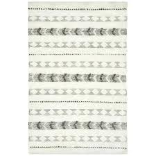 della grey cotton flat weave rug runner