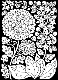 d270f158cfbe2257c42dbc8244e06dc3 free coloring page coloring adult flowers black background on benefits of adult coloring