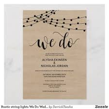String Of Lights Rustic Wedding Invitation Teeshaderrick Boards Of Wedding Invitation