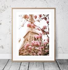 magnolia wall decor eiffel tower print entryway print pastel pink wall art romantic wall art paris artwork bestfriend gift cafe decor