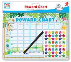 Pack Of 6 Jungle Childrens Reward Behaviour Charts With Star Stickers Pen Char