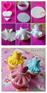 Easy Fondant Cupcake Toppers For Bridal Shower Or Princess Party 1